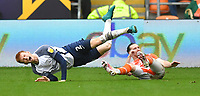 Preston North End's Sepp van den Berg is fouled by  Blackpool's James Husband<br /> <br /> Photographer Dave Howarth/CameraSport<br /> <br /> The EFL Sky Bet Championship - Blackpool v Preston North End - Saturday 23rd October 2021 - Bloomfield Road - Blackpool<br /> <br /> World Copyright © 2020 CameraSport. All rights reserved. 43 Linden Ave. Countesthorpe. Leicester. England. LE8 5PG - Tel: +44 (0) 116 277 4147 - admin@camerasport.com - www.camerasport.com