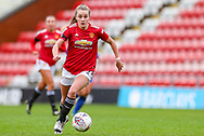 Manchester United midfielder Ella Toone (7) runs with the ball during the FA Women's Super League match between Manchester United Women and Reading LFC at Leigh Sports Village, Leigh, United Kingdom on 7 February 2021.
