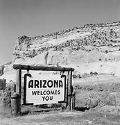 """0301-008 Highway sign """"Arizona Welcomes You"""""""