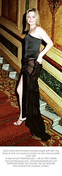 MISS CAROLINE STANBURY formerly linked with HRH The Duke of York, at a party in London on 26th January 2002.OWY 236