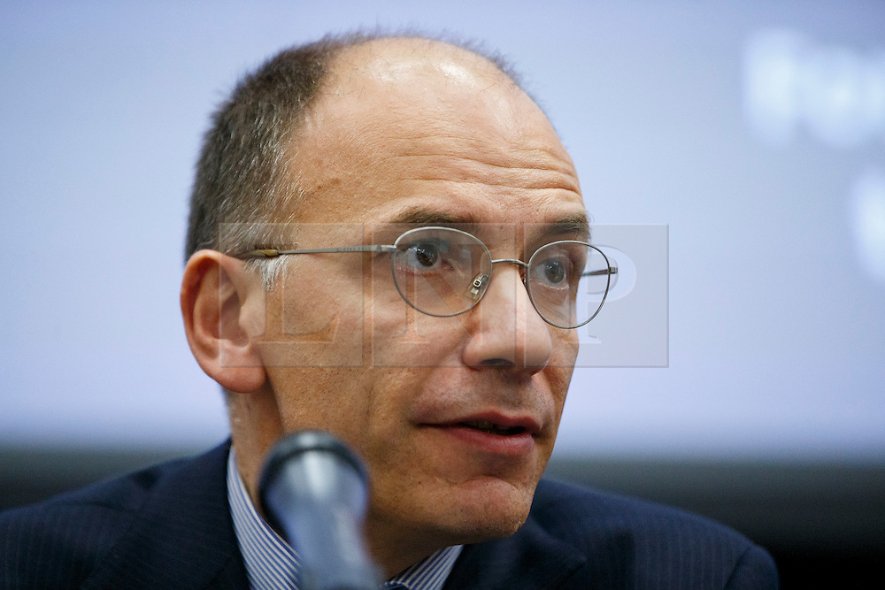 © Licensed to London News Pictures. 26/04/2016. London, UK. Former Italian Prime Minister ENRICO LETTA giving a speech on EU referendum at 'The UK in a Changing Europe conference' at King's College in London on Tuesday, 26 April 2016. Photo credit: Tolga Akmen/LNP