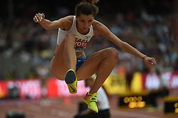 August 5, 2017 - London, England, United Kingdom - Hanna KNYAZYEVA-MINENKO, israel, at triple jump preliminary heat at London Stadium in London on August 5, 2017 at the 2017 IAAF World Championships athletics. (Credit Image: © Ulrik Pedersen/NurPhoto via ZUMA Press)