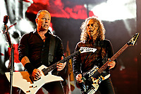 Metallica live  on The Pyramid Stage on Day 2 of the Glastonbury Festival 2014 at Worthy Farm in Pilton. 28th June 2014 photo by David Court
