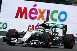 Nico Rosberg (GER) Mercedes AMG F1 W07 Hybrid.<br /> 28.10.2016. Formula 1 World Championship, Rd 19, Mexican Grand Prix, Mexico City, Mexico, Practice Day.<br /> Copyright: Batchelor / XPB Images / action press