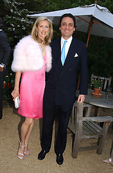COUNT & COUNTESS ALLESANDRO GUERRINI-MARALDI  at the annual Cartier Flower Show Diner held at The Physics Garden, Chelsea, London on 23rd May 2005.<br /><br />NON EXCLUSIVE - WORLD RIGHTS