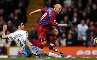 Photo: Javier Garcia/Back Page Images Mobile 07887 794393<br />03/01/2005 Crystal Palace v Aston Villa, FA Barclays Premiership, Selhurst Park<br />Andy Johnson pounces to make it 1-0 to Palace
