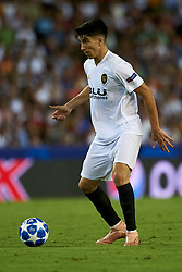 September 19, 2018 - Valencia, Spain - Carlos Soler controls the ball during the Group H match of the UEFA Champions League between Valencia CF and Juventus at Mestalla Stadium on September 19, 2018 in Valencia, Spain. (Credit Image: © Jose Breton/NurPhoto/ZUMA Press)