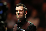 Mark Selby in action during his match against Mark Williams. Betvictor Welsh Open snooker 2016, day 4 at the Motorpoint Arena in Cardiff, South Wales on Thursday 18th Feb 2016.  <br /> pic by Andrew Orchard, Andrew Orchard sports photography.