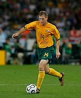 Photo: Glyn Thomas.<br />Croatia v Australia. Group F, FIFA World Cup 2006. 22/06/2006.<br /> Australia's Scott Chipperfield.