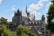 Uitzicht op Hooglandse Kerk vanaf de Burcht van Leiden | View of Hooglandse Church from Leiden Castle