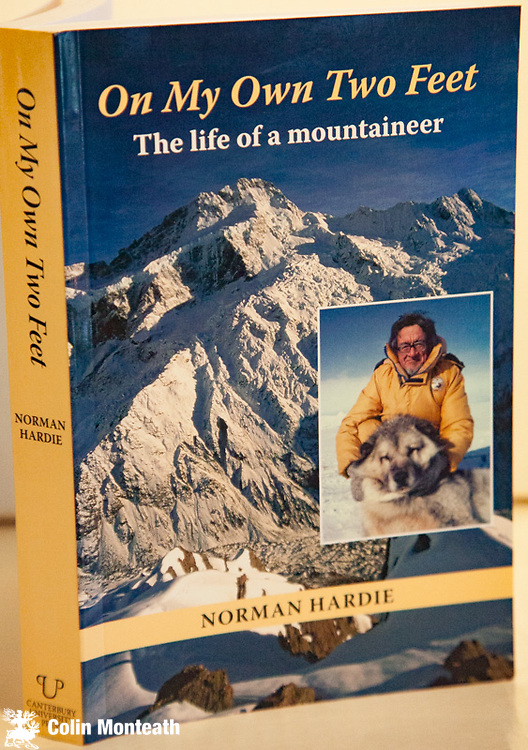 ON MY OWN TWO FEET - The Life of a Mountaineer, Norman Hardie, Canterbury University Press, 2006, 1st Edn, VG+  card covers, as new, B&W and colour plates, great maps, superb autobiography of one of New Zealand's best-known climbers - early climbs in Southern Alps, NZAC Barun Valley expedition 1st ascent Kangchenjunga, Silver Hut expedition, Himalayan Trust work in Nepal, Mt Herschel expedition, North Victoria land, Leadership at Scott Base.$65
