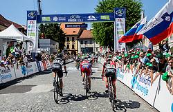 Peloton in Novo mesto during last Stage 4 of 24th Tour of Slovenia 2017 / Tour de Slovenie from Rogaska Slatina to Novo mesto (158,2 km) cycling race on June 18, 2017 in Slovenia. Photo by Vid Ponikvar / Sportida