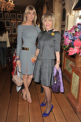 Left to right, LADY EMILY COMPTON and ROSIE, MARCHIONESS OF NORTHAMPTON at a lunch hosted by Roger Viver in honour of Bruno Frisoni their creative director, held at Harry's Bar, 26 South Audley Street, London on 31st March 2011.