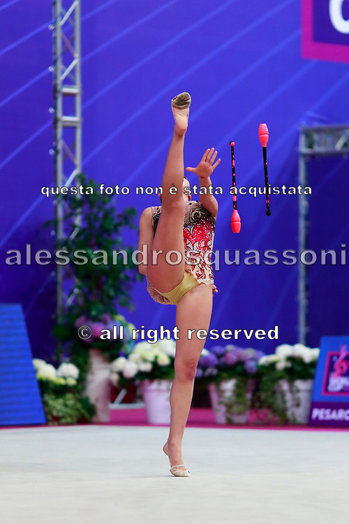 Katrin Taseva won the bronze medal at clubs final in Pesaro World Cup in Adriatic Arena on April 15,2018.Katrin is a Bulgarian gymnast born in Samokov on November 24, 1997. She is a member of the Bulgarian National team since 2010.