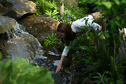The Duchess of Cambridge visits her garden at the RHS Chelsea Flower Show at the Royal Hospital Chelsea, London.