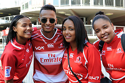 10/03/2018 Cousins, Tatum Jacobs, Lyle Jacobd, Kelsey Isaacs and Cassidean Isaacs from Kensington pose for a photo before the game bewteen Gauteng Lions and the Auckland Blues at Emirates Airlines Stadium, Ellis Park, Johannesburg, South Africa. Picture: Karen Sandison/African News Agency (ANA)