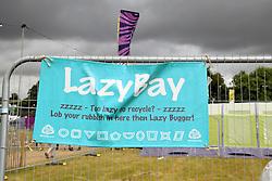 Latitude Festival, Henham Park, Suffolk, UK July 2019. Too lazy to recycle?