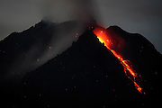KARO, NORTH SUMATRA, INDONESIA-JUNE 28:<br /> <br /> Resident's look on as volcanic ash spread from mount sinabung seen at Karo, North Sumatra, Indonesia. June, 28. 2015. Over 10.000 Residents living near the Mount Sinabung volcano on Indonesia's Sumatra island were told to evacuate following a sharp increase in volcanic activity.<br /> ©Nira Cahaya/Exclusivepix Media