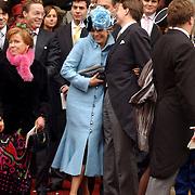 NLD/Naarden/20051022 - Huwelijk prins Floris en Aimee Söhngen, prinses Christina, prins Jaime, prinses Laurentien en prins Constantijn
