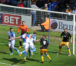 Bristol Rovers' Tom Parkes heads wide of the goal. - Photo mandatory by-line: Alex James/JMP - Mobile: 07966 386802 03/05/2014 - SPORT - FOOTBALL - Bristol - Memorial Stadium - Bristol Rovers v Mansfield - Sky Bet League Two