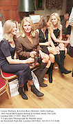 Louise Wallace, Kirstine Ross-Skinner, Julie Lindsay, Mrs David McTaggart during a Fashion Show.The Vale. London SW3.17/9/97. film 97733f17<br />© Copyright Photograph by Dafydd Jones<br />66 Stockwell Park Rd. London SW9 0DA<br />Tel 0171 733 0108