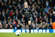 Celtic's Leigh Griffiths (9) during the Champions League match between Manchester City and Celtic at the Etihad Stadium, Manchester, England on 6 December 2016. Photo by Craig Galloway.