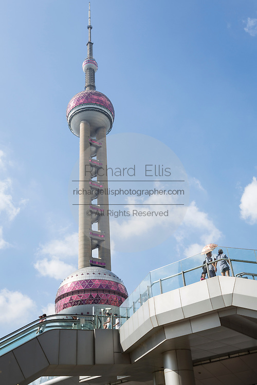 Pearl Oriental Tower Lujiazui district Pudong Shanghai, China