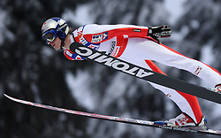 Thomas Morgenstern of Austria at Normal Hill Individual Ski jumps at FIS Nordic World Ski Championships Liberec 2008, on February 21, 2009, in Jested, Liberec, Czech Republic. (Photo by Vid Ponikvar / Sportida)
