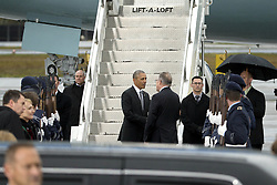 November 18, 2016 - Berlin, Germany - US President Barack Obama says goodbye to an official prior to his departure at Tegel airport in Berlin, Germany on November 18, 2016. (Credit Image: © Emmanuele Contini/NurPhoto via ZUMA Press)