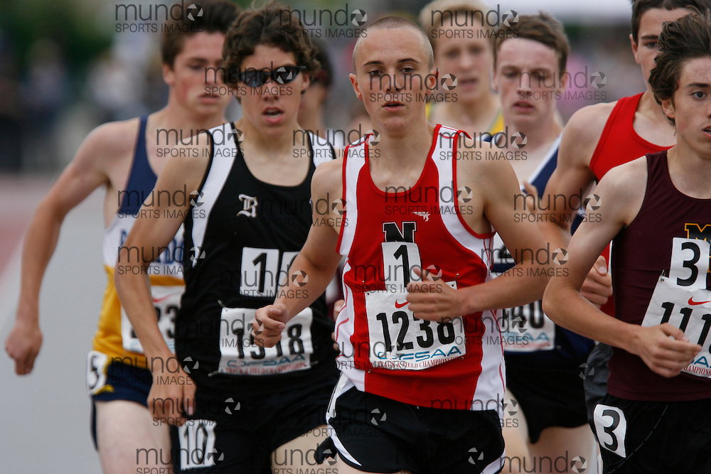 (London, Ontario}---04 June 2010) Shawn Master of Northern  - Sarnia competing in the 1500m final at the 2010 OFSAA Ontario High School Track and Field Championships in London, Ontario, June 04, 2010 . Photograph copyright Dave Chidley / Mundo Sport Images, 2010.