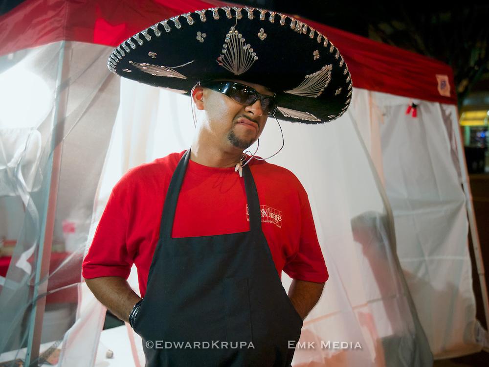 Tito the Taco Man in Riverside, California 2013.