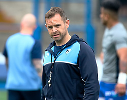 Cardiff Blues' Head Coach Danny Wilson during the pre match warm up<br /> <br /> Photographer Simon King/Replay Images<br /> <br /> European Rugby Challenge Cup - Semi Final - Cardiff Blues v Pau - Saturday 21st April 2018 - Cardiff Arms Park - Cardiff<br /> <br /> World Copyright © Replay Images . All rights reserved. info@replayimages.co.uk - http://replayimages.co.uk