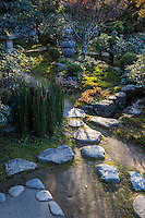 """Jakko-in temple is a nunnery located in Ohara Kyoto. Within its small compound is a beautiful pond garden.  The Migiwa pond and garden was described and mentioned in the Japanese classic """"The Tale of Heike"""" and is famous for its unique composition."""