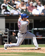 CHICAGO - AUGUST 01:  Pete Alonso #20 of the New York Mets bats against the Chicago White Sox August 1, 2019 at Guaranteed Rate Field in Chicago, Illinois.  (Photo by Ron Vesely)  Subject:   Pete Alonso