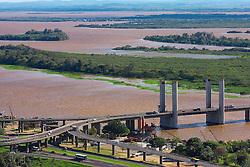 Vista aérea da Ponte Getulio Vargas, em Porto Alegre. FOTO: Jefferson Bernardes / Preview.com