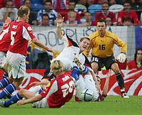 Fotball<br /> Euro 2004<br /> 23.06.2004<br /> Foto: Witters/Digitalsport<br /> NORWAY ONLY<br /> <br /> Tyskland v Tsjekkia<br /> <br /> v.l. Rene BOLF - Bastian SCHWEINSTEIGER Deutschland - David ROZEHNAL - Torwart Jaromir BLAZEK