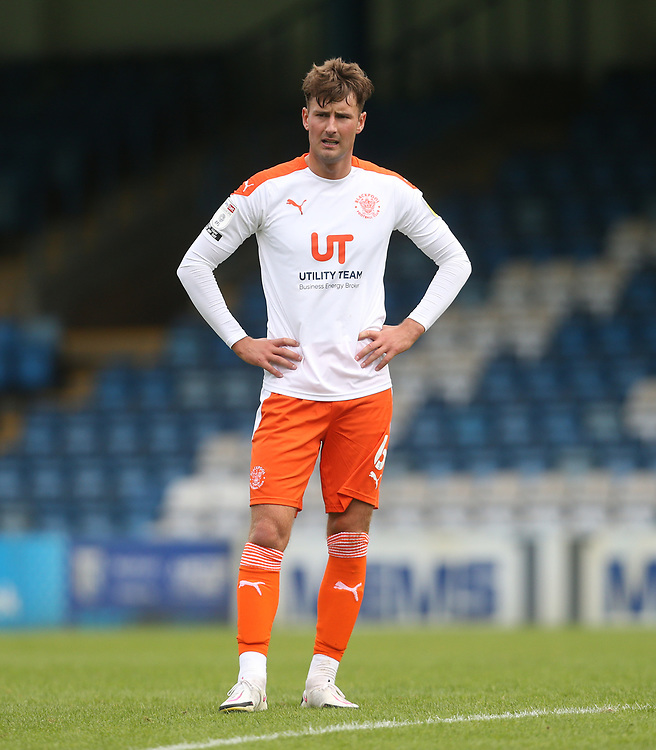Blackpool's Ethan Robson<br /> <br /> Photographer Rob Newell/CameraSport<br /> <br /> The EFL Sky Bet League One - Gillingham v Blackpool - Saturday 26th September 2020 - Priestfield Stadium - Gillingham<br /> <br /> World Copyright © 2020 CameraSport. All rights reserved. 43 Linden Ave. Countesthorpe. Leicester. England. LE8 5PG - Tel: +44 (0) 116 277 4147 - admin@camerasport.com - www.camerasport.com