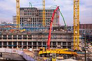 Germany, Cologne, the construction site of the building project MesseCiy Koeln near the exhibition center in the district Deutz.<br /> <br /> Deutschland, Koeln, Baustelle des Grossprojektes MesseCity Koeln neben dem Messegelaende.