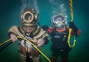 Kirby Morgan 37 and John Date commercial divers at Dutch Springs, Scuba Diving Resort in Bethlehem, Pennsylvania