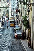 Portugal - Lisbonne - Les tramways - Funiculaire de  la Bica