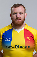 CLUJ-NAPOCA, ROMANIA, FEBRUARY 27: Romania's national rugby player Ionel Badiu pose for a headshot, on February 27, 2018 in Cluj-Napoca, Romania. (Photo by Mircea Rosca/Getty Images)