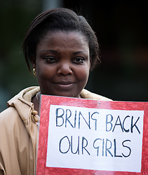 ***LNP BEST OF WEEK SELECTION*** © Licensed to London News Pictures . 06/05/2014 . Piccadilly Gardens , Manchester , UK . Demonstration to highlight the plight of over 200 Nigerian girls kidnapped by Islamist Extremist group Boko Haram as today the group's leader , Abubakar Shekau , has said he will sell the girls in to slavery . Photo credit : Joel Goodman/LNP