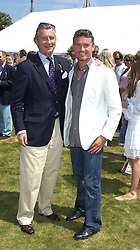 "Left to right, ARNAUD BAMBERGER and DAVID COULTHARD at a luncheon hosted by Cartier at the 2005 Goodwood Festival of Speed on 26th June 2005.  Cartier sponsored the ""Style Et Luxe' for vintage cars on the final day of this annual event at Goodwood House, West Sussex. <br />