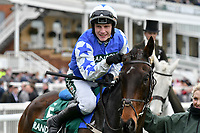 National Hunt Horse Racing - 2019 Randox Health Grand National Festival - Friday, Day Two (Ladies Day)<br /> <br /> W P Mullins on Cadmium after winning <br /> the 16:05 Randox Health Topham Handicap Chase (Grade 3) (National Course)) at Aintree Racecourse.<br /> <br /> COLORSPORT/WINSTON BYNORTH