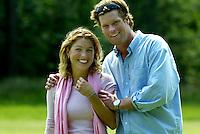 LEUSDEN - Laurien Vest met Niels Boysen.  Stern Open 2003 op de Hoge Kleij. COPYRIGHT KOEN SUYK