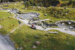 THEMENBILD - Wanderer am Teufelswasser, aufgenommen am 13. Oktober 2019 in Hinterglemm, Oesterreich // Hikers at the Devil's Water in Hinterglemm, Austria on 2019/10/13. EXPA Pictures © 2019, PhotoCredit: EXPA/ JFK