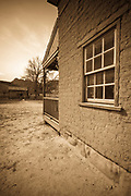 """Alonzo Russell adobe house (featured in the film """"Butch Cassidy and the Sundance Kid""""), Grafton ghost town, Utah USA"""