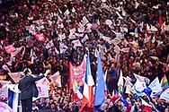 29042012. Paris Bercy. Election présidentielle 2012. Meeting du candidat PS François Hollande.