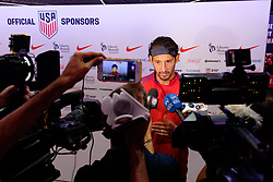 August 31, 2017 - Harrison, New Jersey, United States - Harrison, NJ - Thursday Aug. 31, 2017: Omar Gonzalez during a training day prior to a FIFA World Cup Qualifier between the United States (USA) and Costa Rica (CRC) at Red Bull Arena. (Credit Image: © Howard C. Smith/ISIPhotos via ZUMA Wire)