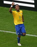 Jubel zum 3:0 fuer Brasilien durch Ze Roberto<br /> Fussball WM 2006 Achtelfinale Brasilien - Ghana<br /> Brasil - Ghana<br /> Norway only